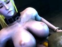 Samus Aran anal with huge dick alien