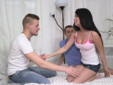 Indebted fellow lets kinky buddy to ream his gf for d53MNq