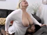 Grandmother sucks big black cock
