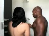 Latin couple make close up sex action