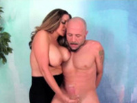 Sienna Lopez Tugging Hard Cock