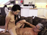 Old man fuck big tits girl and couple seduce young first