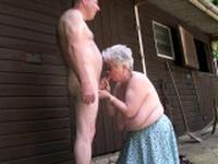 Grandma bloes and wanks big dick