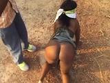 African Slave Enjoys Getting Tortured Outdoors