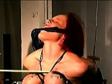 Amateur redhead milf model in bondage and boobs porn scene
