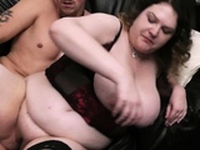 Cheating husband fucks curly big boobs bitch