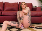 Tattooed Redhead With Big Tits Squirts While Solo