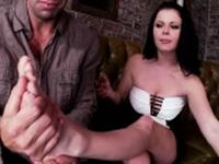 Natural tits pornstar footjob with cumshot