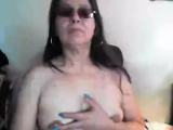Saggy puffy large nipples older on Lala live on 720camscom