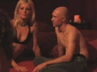 Swinger couple David and Christine fucking after a threesome