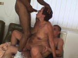 Her older mom threesome fucked by two dudes