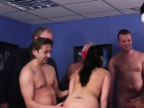 British MILF blowbanged and jizzed on face