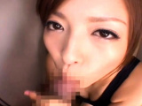 Hotty feels entire japanese dong smashing her pussy in pov