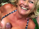 Voluptuous granny with big ass got dick