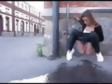 Pissing at the street corner