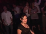 Irresistible babes dance at the party