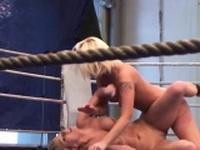 Bigtits european babe wrestles a busty dyke