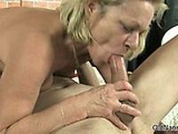 Dirty mature slut goes crazy sucking part6
