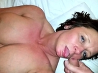 Big boobs gf Sasha Pain facial cumshot