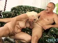 Stud bangs blonde maiden Marianne with large tits