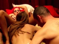 Nympho wife lures her man into red room