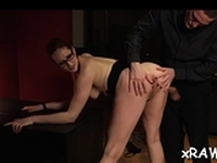 Cheerful Emy Russo poontang plowing session