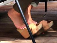 Public foot fetish