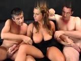 Busty MILF group sex