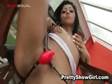 Super horny indian babe working on a big part5