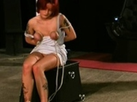 Astonishing gal is fucked with a sex-toy
