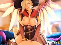 Hot ass Overwatch sluts fucked by massive cocks
