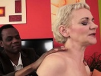Blonde Granny Gets A Massage