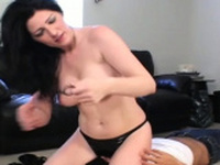 Servitude act with some sexy and rough female domination