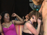 CFNM amateurs cocksucking stripper at party