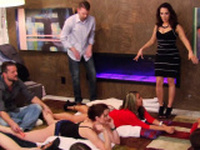 Amateur swingers attend reality show.