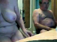 Old Couple on Webcam
