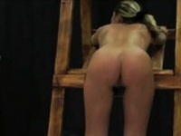 Naughty girl cries as shes spanked