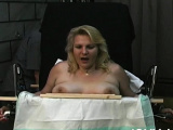 Charming Candy in heels strips and fucks herself
