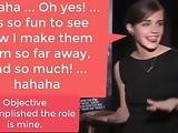 Emma Watson jokes fake casting