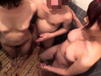 Mad party Group sex inside the shower