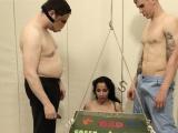 attractive BDSM toilet slut fucked anally hard